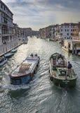 大运河和城市地平线,威尼斯,意大利 库存照片