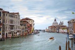 大运河和大教堂圣玛丽亚della向致敬,威尼斯,意大利 库存图片