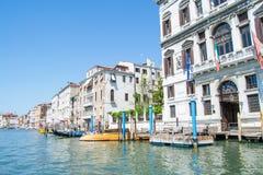大运河和建筑学在威尼斯,意大利 免版税库存图片
