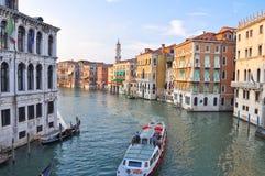 大运河在威尼斯。 免版税图库摄影