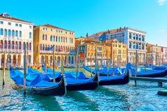 大运河在威尼斯在晴朗的夏日 库存照片