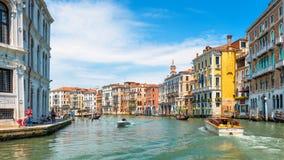 大运河在威尼斯,意大利 免版税图库摄影