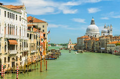 大运河在威尼斯,意大利 库存照片