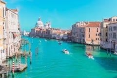 大运河在威尼斯,有被过滤的葡萄酒的意大利 库存照片