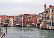 大运河在威尼斯 免版税库存图片