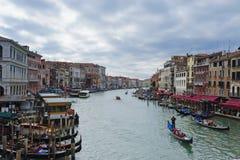 大运河在风暴前的威尼斯 免版税库存照片