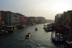 大运河在黄昏的威尼斯 免版税库存图片