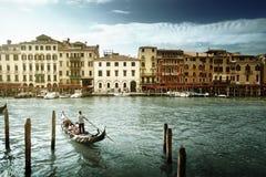 大运河在晴朗的早晨,威尼斯,意大利 库存图片