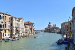 大运河威尼斯 库存照片