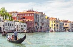 大运河晴朗的全景在威尼斯 免版税库存照片