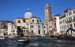大运河的圣热雷米亚教会在威尼斯,意大利 免版税库存图片