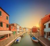 大运河的美丽的景色在威尼斯 免版税库存照片