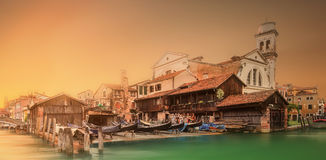 大运河的美丽的景色在威尼斯 免版税库存图片