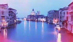 大运河葡萄酒照片在日落的 免版税库存照片