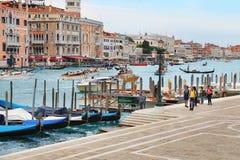大运河视图在威尼斯,意大利 免版税库存图片