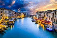 大运河,威尼斯在意大利 库存图片