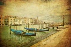 大运河,威尼斯的葡萄酒图象 免版税库存图片