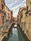 大运河,威尼斯,意大利全景  免版税库存照片