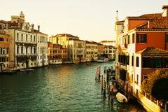大运河,威尼斯,意大利,葡萄酒颜色 库存照片