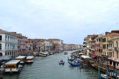 大运河-威尼斯,亚得里亚的女王/王后看法  库存图片