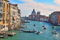 大运河-威尼斯主要交通动脉  免版税库存图片