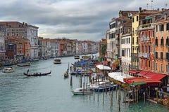 大运河-威尼斯主要交通动脉  库存照片