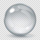 大透明玻璃球形 库存图片