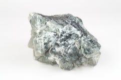 大透明绿色荧石水晶 库存照片