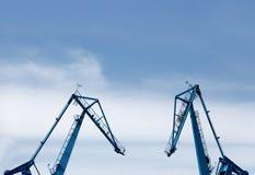 大造船厂起重机 图库摄影