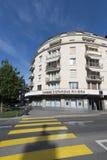 大道保罗Cérésole,沃韦,瑞士 免版税库存图片