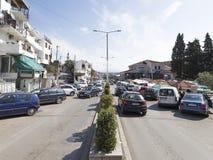 大道在乌尔齐尼在黑山 库存图片