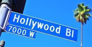 大道好莱坞符号 库存照片