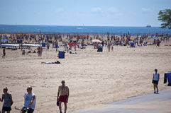 大道海滩芝加哥中间北部s夏天 免版税库存照片