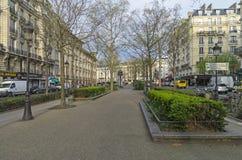 大道清早Clichy 法国巴黎 免版税库存照片