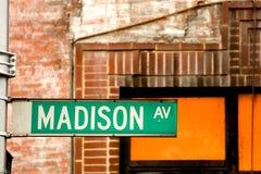 大道麦迪逊 免版税库存图片