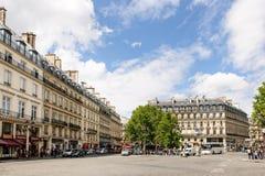 大道de l'Opera和云香圣徒Honore 免版税库存照片