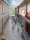 大都会博物馆的访客在纽约 库存照片