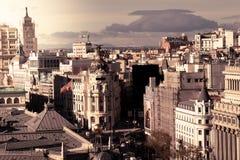 大都会旅馆在马德里在一个美好的夏日,西班牙 库存图片