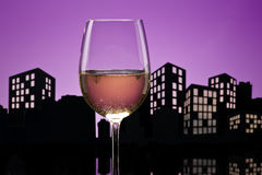 大都会白葡萄酒 免版税库存图片
