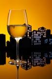 大都会白葡萄酒 库存照片