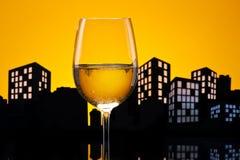 大都会白葡萄酒 库存图片