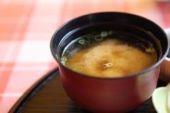 大酱汤,日本食物 免版税图库摄影