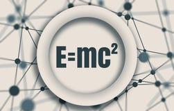 大量和能量当量物理惯例  库存例证
