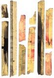 大量地屏蔽的老被弄脏的磁带 免版税库存照片