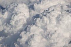 大量大厦的云彩 免版税库存图片