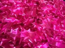 大量桃红色丝带 库存照片
