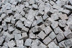 大量灰色水泥砖 免版税库存图片
