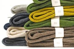 大量爱尔兰有肋骨袜子羊毛 免版税图库摄影