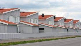 大量生产的行格住宅 库存照片