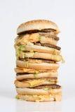 大量的汉堡 图库摄影